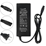 tangsfire 36V 2A Lithium Battery Charger for Scooter Hoverboard Powerboard Mini 3-Prong Max 42V 2A