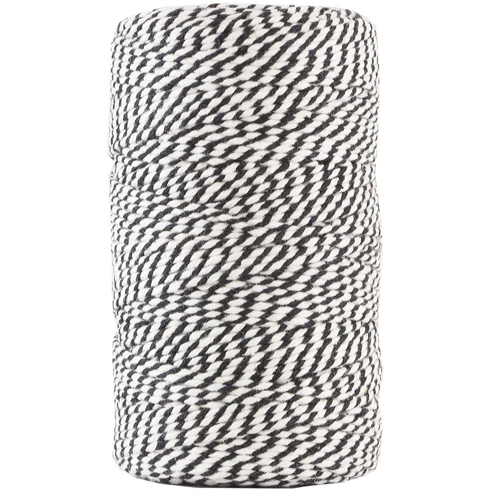 JAM Paper Twine - Black & White Baker's Twine - 109 Yards - Sold Individually by JAM Paper