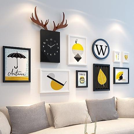 Amazon.com: Home@Wall photo frame Wood Photo Frames ,12 pcs/sets ...