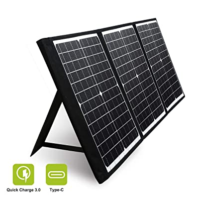 PAXCESS 60W 18V Portable Solar Panel, Off Grid Foldable Solar Charger with USB QC 3.0&Type C Output, Compatible with Rockpals/Jackery/Suaoki Solar Generator Power Station for Outdoor Camping : Garden & Outdoor