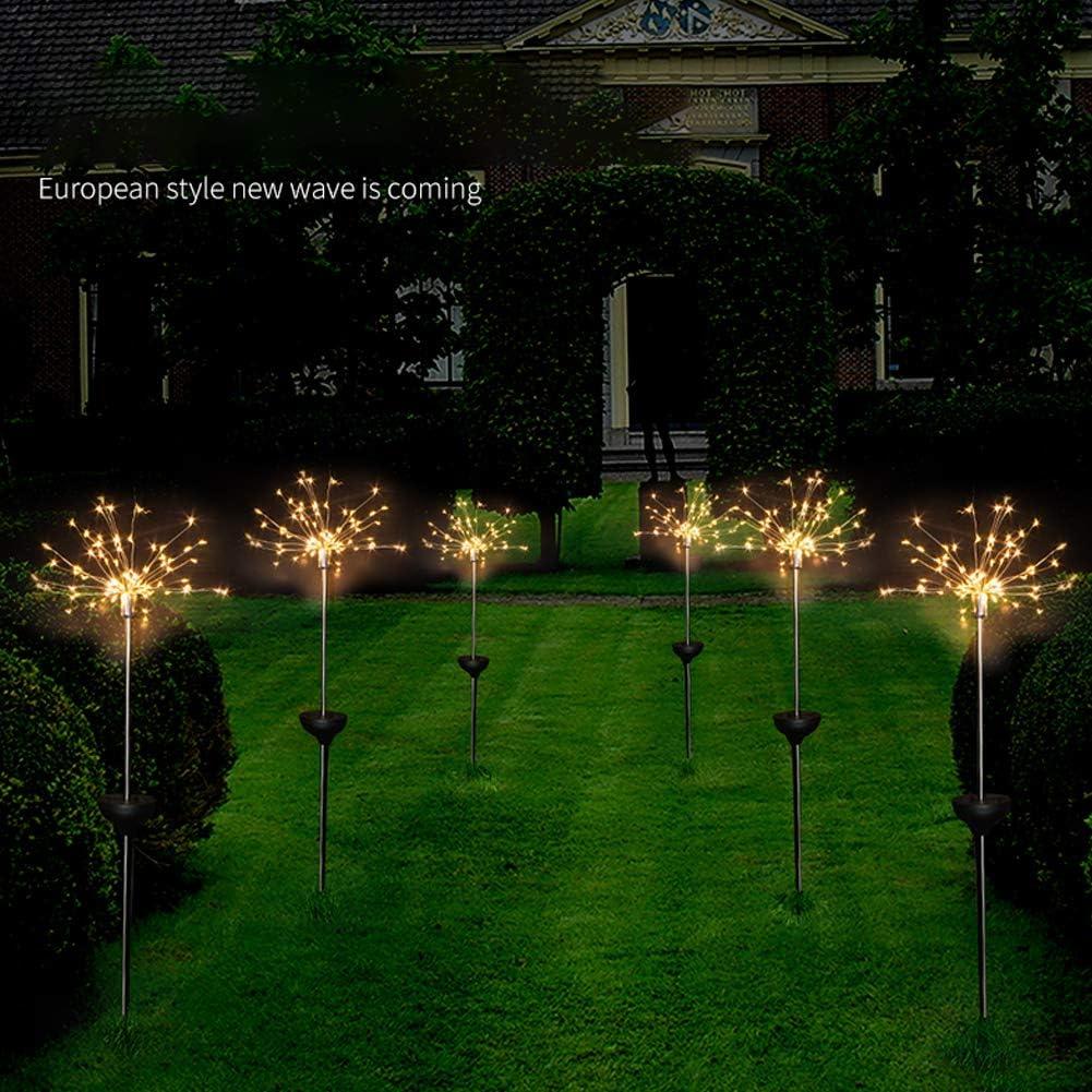 WE-WIN 120 LED Solarbetriebenes Feuerwerk Starburst Garden Outdoor Stake Light
