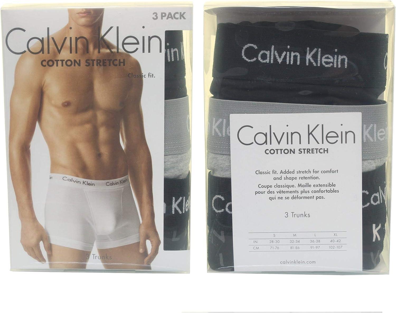 Calvin Klein Cotton Stretch, 3p Trunk, Bóxer para Hombre: Amazon.es: Ropa y accesorios