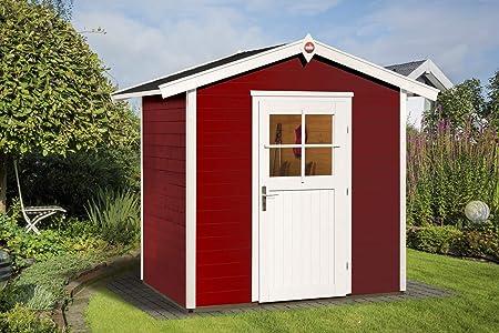 Weka Gartenhaus 223 Gr/ö/ße 1 mit Einzelt/ür schwedenrot
