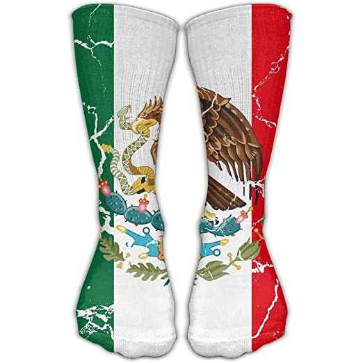 Shoe Size In Mexico.Amazon Com Sockchaol Men Mexico Flag Crack Dress Sock Shoe