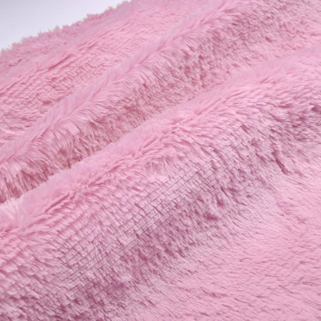 Jiyaru 47 Area Rug Bedroom Round Carpet Indoor Soft Mat Home Plush Mats Pink
