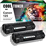 Cool Toner 2 Black Compatible Toner Cartridge Canon 125 Ink (3484B001AA) Replacement for Canon LBP6000 LBP6000 MF3010 Toner Canon ImageClass LBP6000 MF3010 LBP6030w cartridge Toner Printer