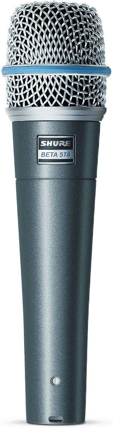 Shure BETA 57A Supercardioid Dynamic Microhone with High Output Neodymium Element for Vocal/Instrument Applications: Musical Instruments