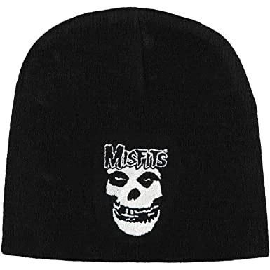 Amazon.com  Rockabilia Men s Misfits Beanie One Size Black  Clothing 9918648a102