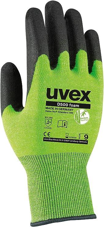 Uvex C500 M Foam Schnittschutzhandschuhe 1 Paar Schnittfeste Arbeitshandschuhe 10//XL