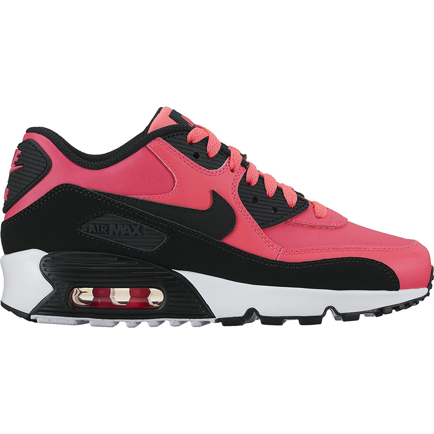 best service 48ee7 1e5d1 Amazon.com   Nike Air Max 90 LTR Big Kid s Shoes Racer Pink Black White  833376-600 (4 M US)   Running