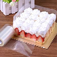 GWHOLE Cake Collar Cake Rolls 10M x 10CM Clear Baking Mousse Surrounding Edge Cake Collar Packaging Wrapping Tape…