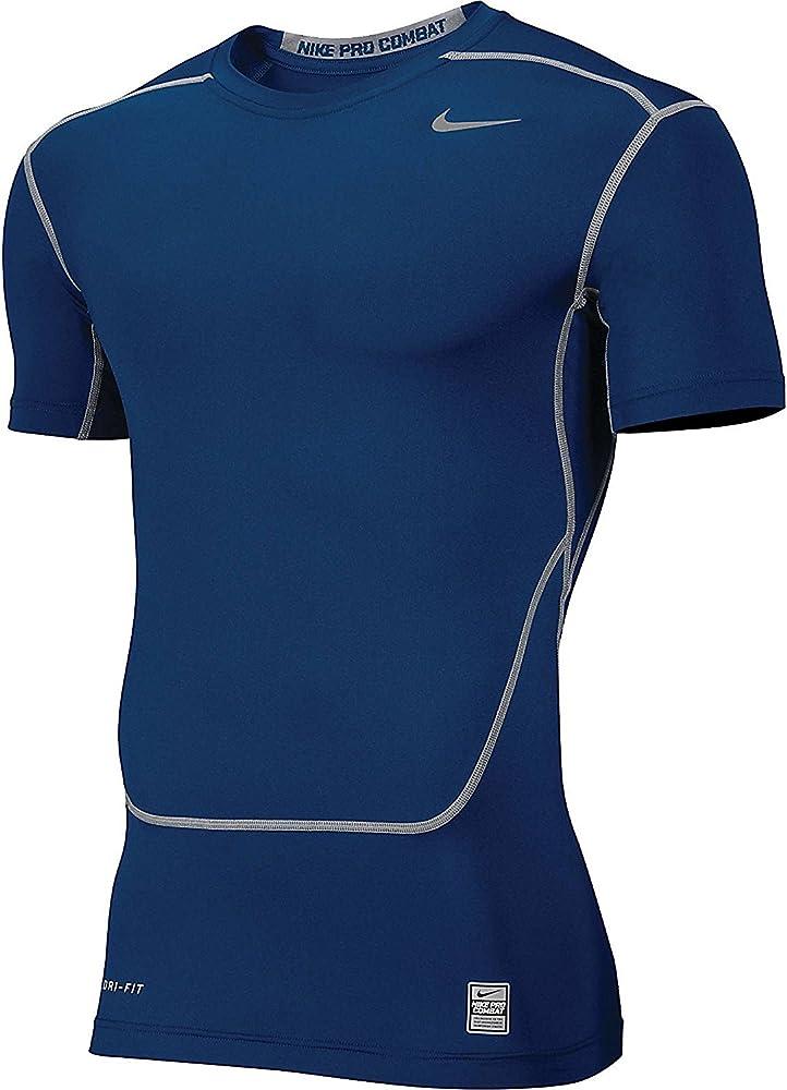 Islas del pacifico Misión Juramento  Amazon.com: Nike Core 2.0 Compression Short Sleeve Top Mens Navy - Small:  Clothing