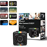 Cop Spy Cam As Seen On TV Mini Camera Wireless Hidden,ehomful 1080P Body Camera Action Camera, Convert Security Nanny Cam with Night Vision and Motion Activated for Home,Car,Office Indoor and Outdoor
