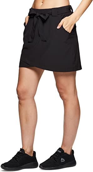 RBX Active Womens Golf//Tennis Everyday Casual Athletic Skort with Bike Shorts