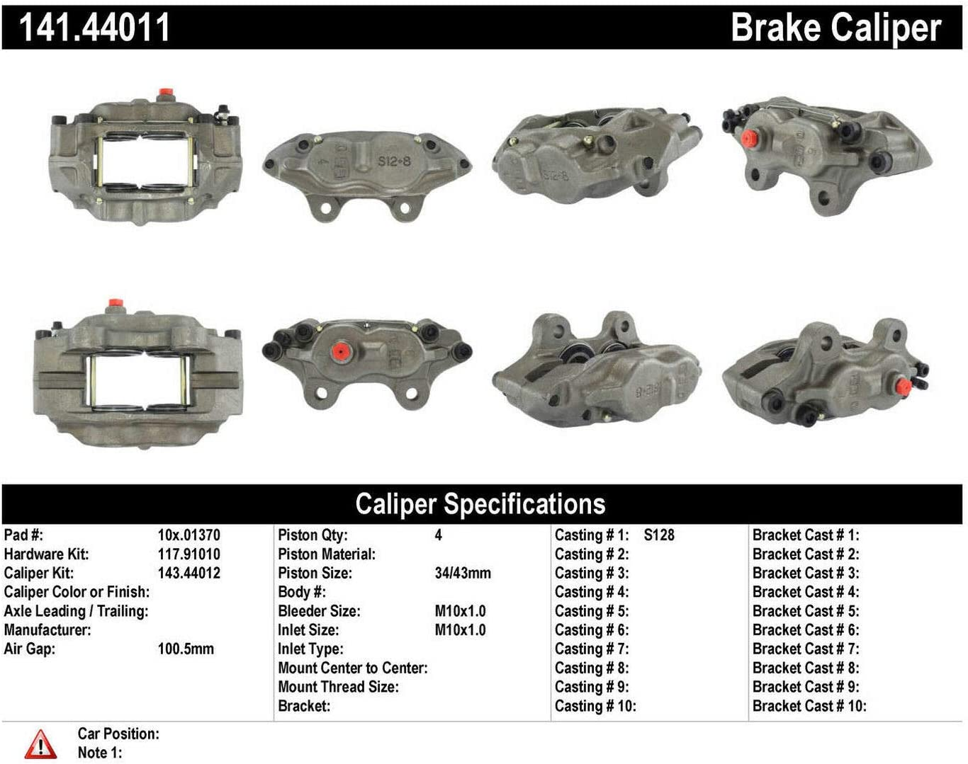 Centric 141.44011 Semi Loaded Caliper