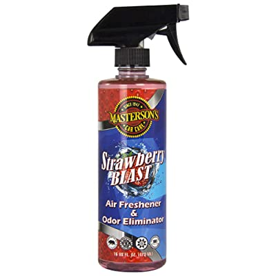 MASTERSON'S CAR CARE MCC_120_16 Strawberry Blast Air Freshener & Odor Eliminator (16 oz): Automotive