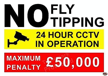 Volar cartel de descarga con fina al aire libre calidad ...