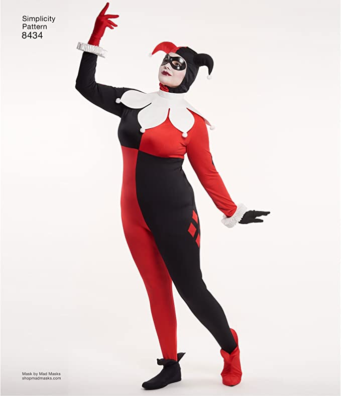 Amazon Com Simplicity Dc Comics Women S Harley Quinn Costume