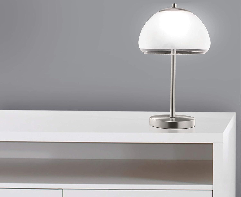 TRANGO Lampe de bureau LED Lampe de table Lampe de chevet Dallas avec /éclairage LED 3000K blanc chaud TG2017-93
