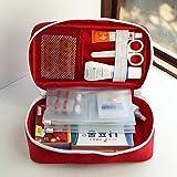 Orpio Multi-function Polyester Medication Storage Box(23x13x7.5cm, Multicolour)