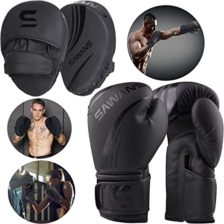 Taekwondo /& Other Martial Arts Baost Durable Punch Mitts Boxing Pads Boxing Glove Gym Sports Training Kick Hand Target Pad Focus Combat Pad for Thai Boxing Kickboxing Boxercise