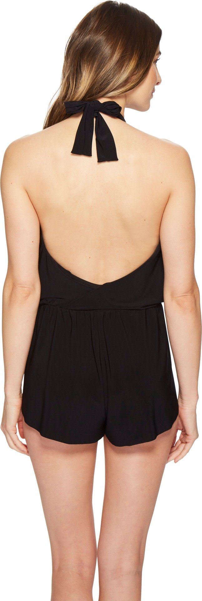Magicsuit Women's Bianca One Piece Halter Swim Romper Swimsuit Black 8 by Magic Suit (Image #2)