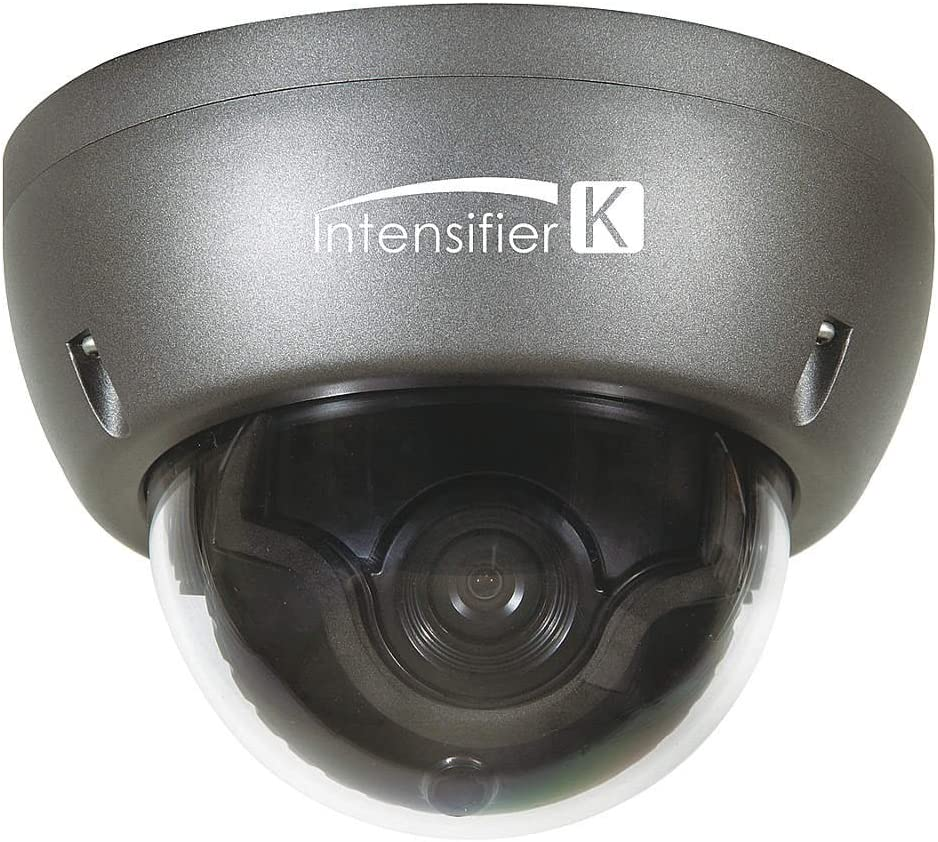 Speco HTINT59K Camera, Dome, Auto Iris Varifocal, 12VDC, Dark Gray