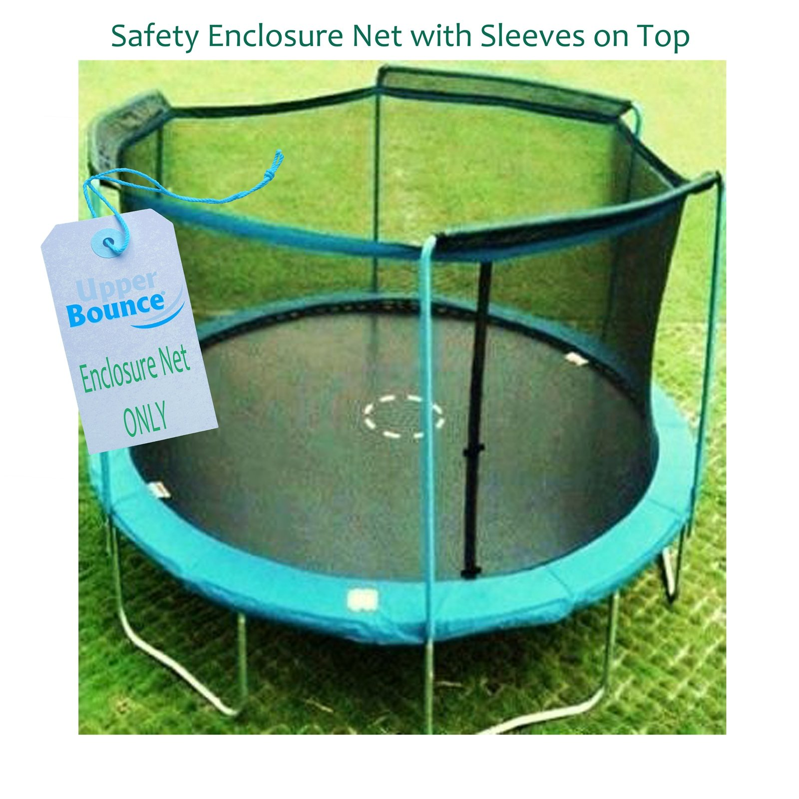 Upper Bounce Trampoline Enclosure Safety Net with Sleeves on top Fits for 15-Feet Round Frame Using 3 Arches (Poles Sold Separately) by Upper Bounce (Image #2)