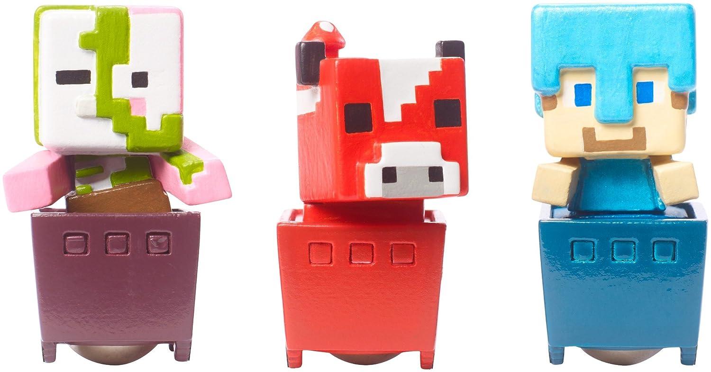 Minecraft Zombie pigman Mooshroom figure set standard Diamond Steve