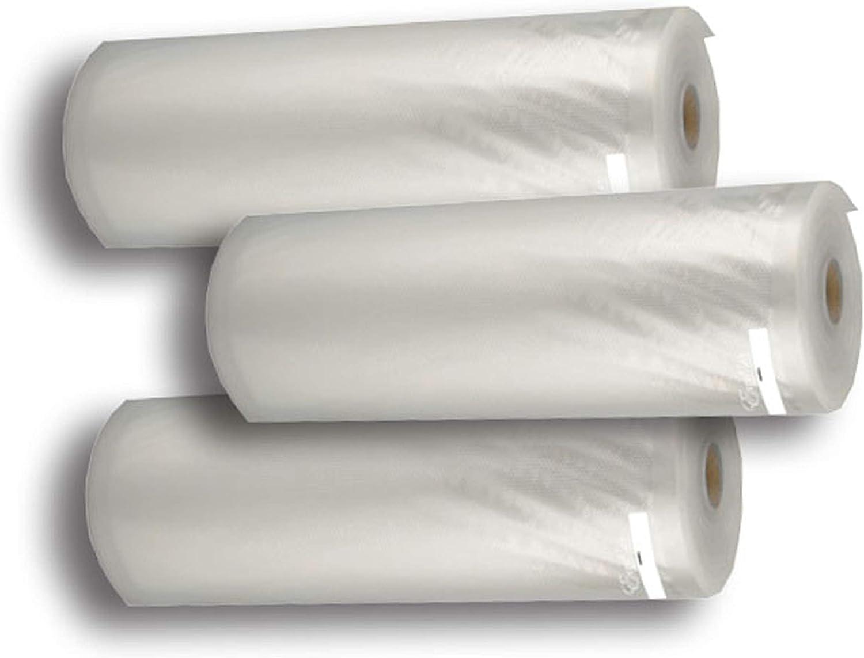 Excalibur EVBR-1118-3 Vacuum Roll-11-Inch x 18-Feet, Set of 3 Food Sealer Bag, Large, Multicolored