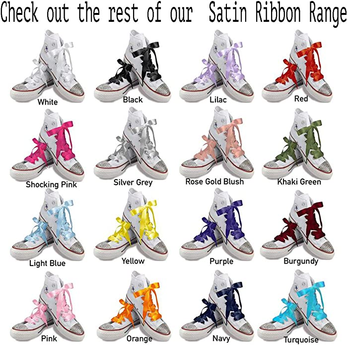 10mm Wide x 85cm Long Flat Glitter Shoe Laces Shoelaces Trainers Bootlaces