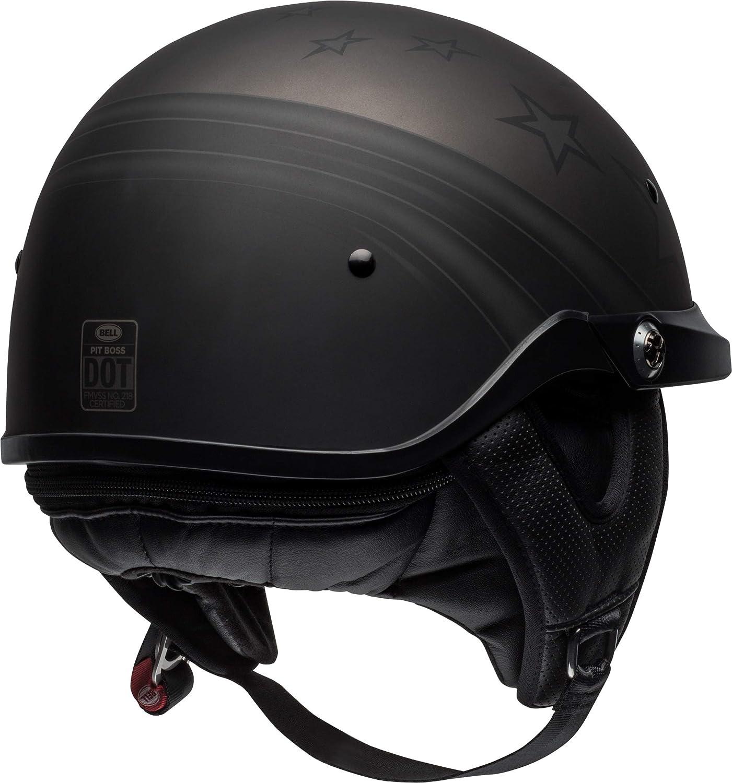 Catacombs Dark Smoke, Medium Bell Pit Boss Open-Face Motorcycle Helmet