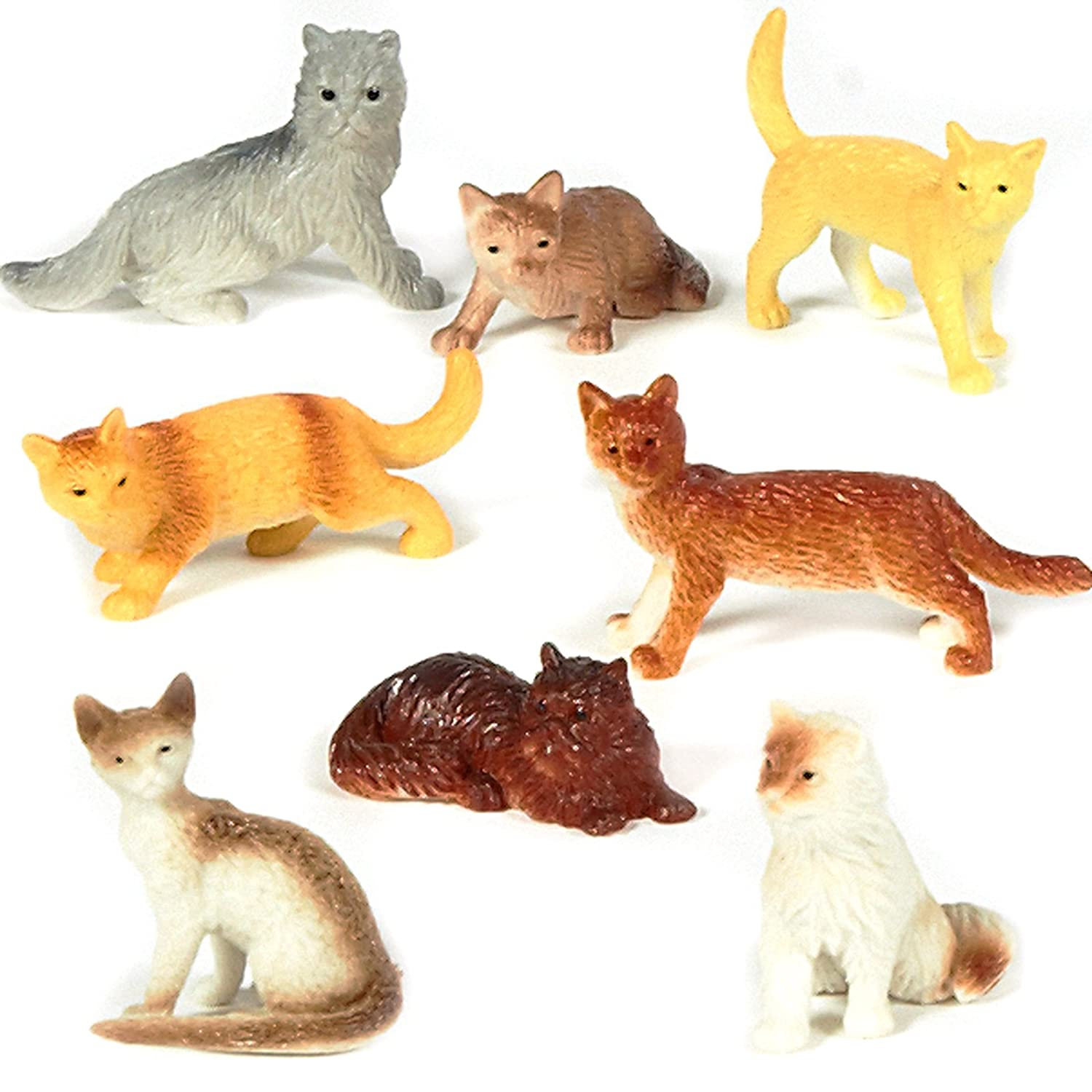 "Amazon Assorted Plastic 2"" Cat Figure Toys 12 Toys & Games"