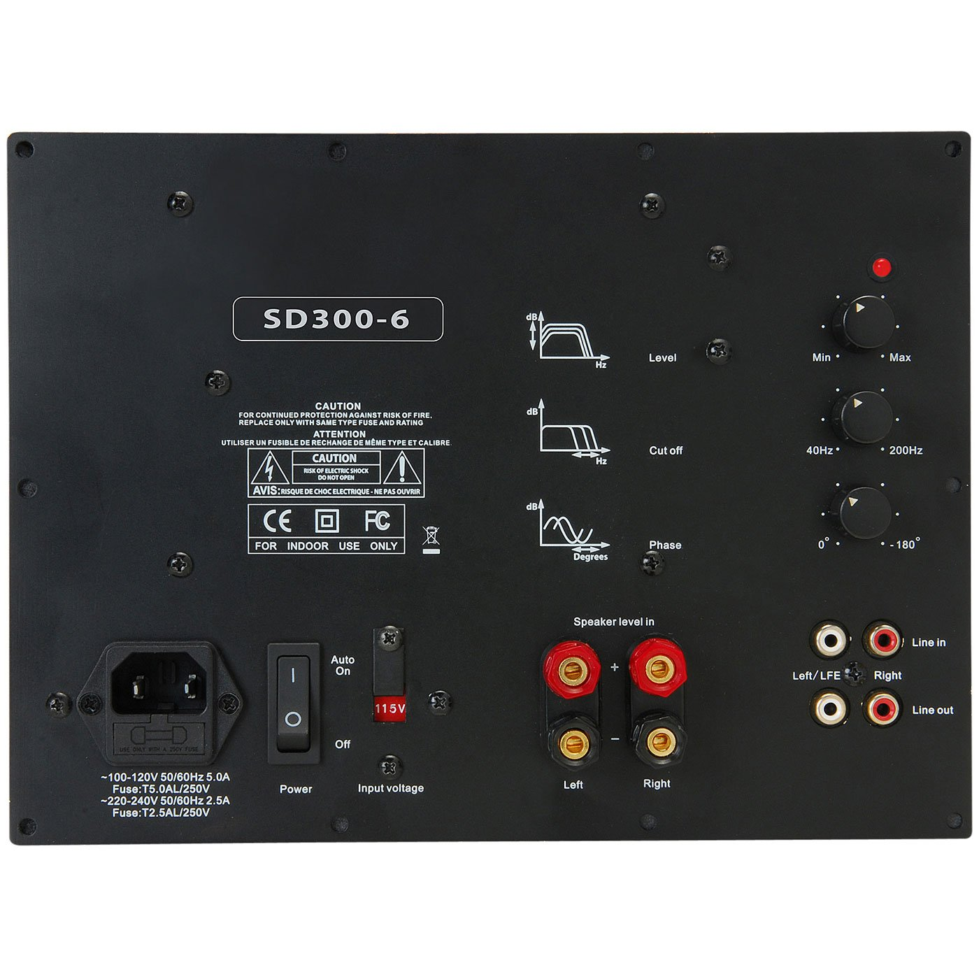 Yung SD300-6 300W Class D Subwoofer Plate Amplifier Module with 6 dB @ 30 Hz by Yung International