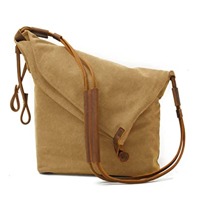 c733bde09 Kemy's Oversized Canvas Crossbody Bags for Women Hobo Cross Body Satchel  Unisex Vintage Men Leather Messenger