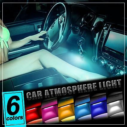 Amazon Com Thunder 4pcs Dc 12v Car Interior Led Light Underdash