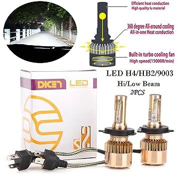 2pc 160 W 16000lm LED Faros Bombillas H4 9003 HB2 Hi/luz de cruce faros