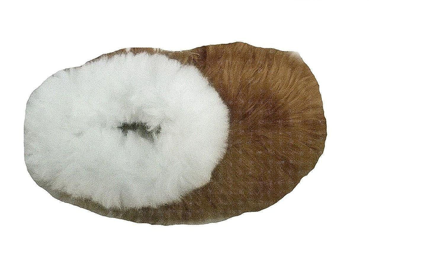 Alpacaandmore Braun/weiße Unisex Hausschuhe Pantoffeln Surialpaka Surialpaka Pantoffeln Fell - 679575