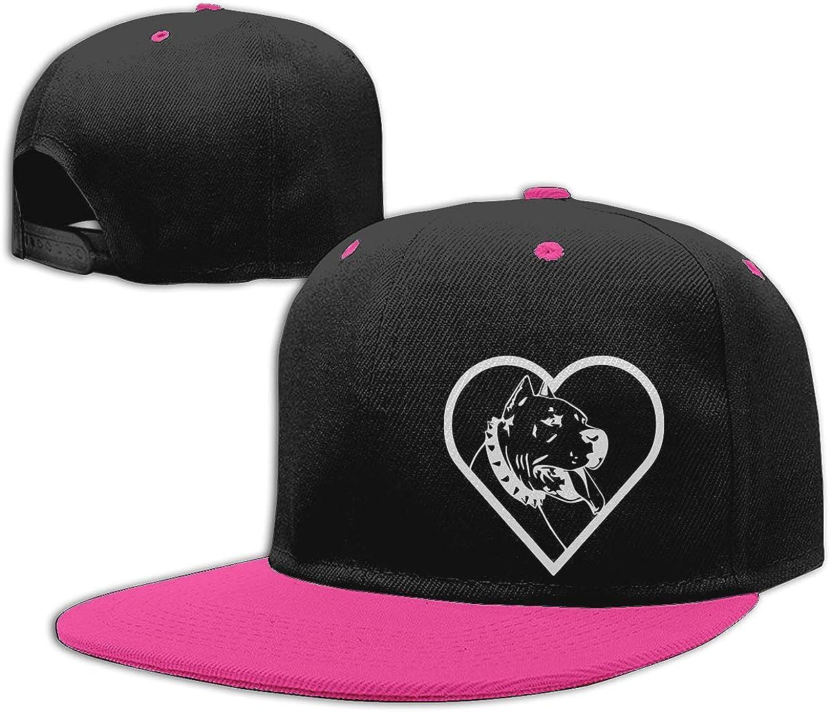 NMG-01 Women Men Trucker Cap American Pit Bull Heart-1 Printed Hip Hop Baseball Caps