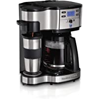 Hamilton Beach 49980z Dos Modo de servir Brewer único y 12-cup Coffee Maker, Acero inoxidable