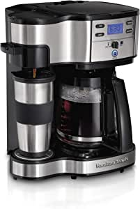 Hamilton Beach 2-Way Brewer Coffee Maker, Single-Serve and 12-Cup Pot, Stainless Steel (49980A), Carafe