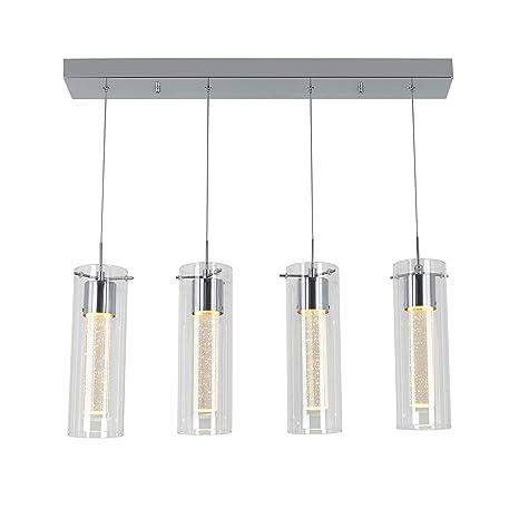 Amazon.com: Artika OME59 - Lámpara de techo con 4 colgantes ...