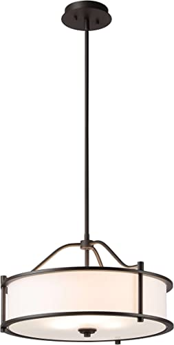 Pendant Lighting 18 inch 3 Light Drum Pendant Light