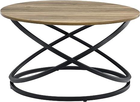 En Casa Round Coffee Table In Wood Colours Side Table Living Room Table Coffee Table Sofa Table Side Tables Amazon De Kuche Haushalt