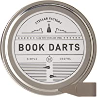 Book Darts: Thin Stainless Steel Mini Bookmarks - 50 Count