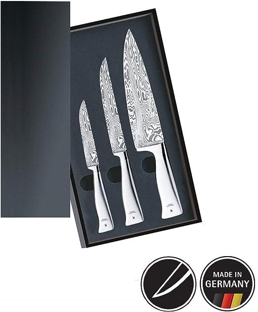 WMF Juego de cuchillos de cocina, 3 piezas, colección Damasteel ...