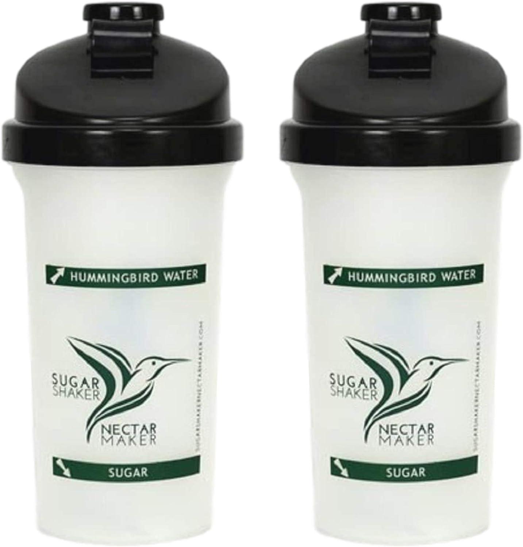 Sugar Shaker Nectar Maker 20 OZ Bottle | Hummingbird Nectar Easy Mix Bottle for Filling Hummingbird Feeders Quickly | Powder Nectar Mix for Hummingbirds Has Never Been Easier