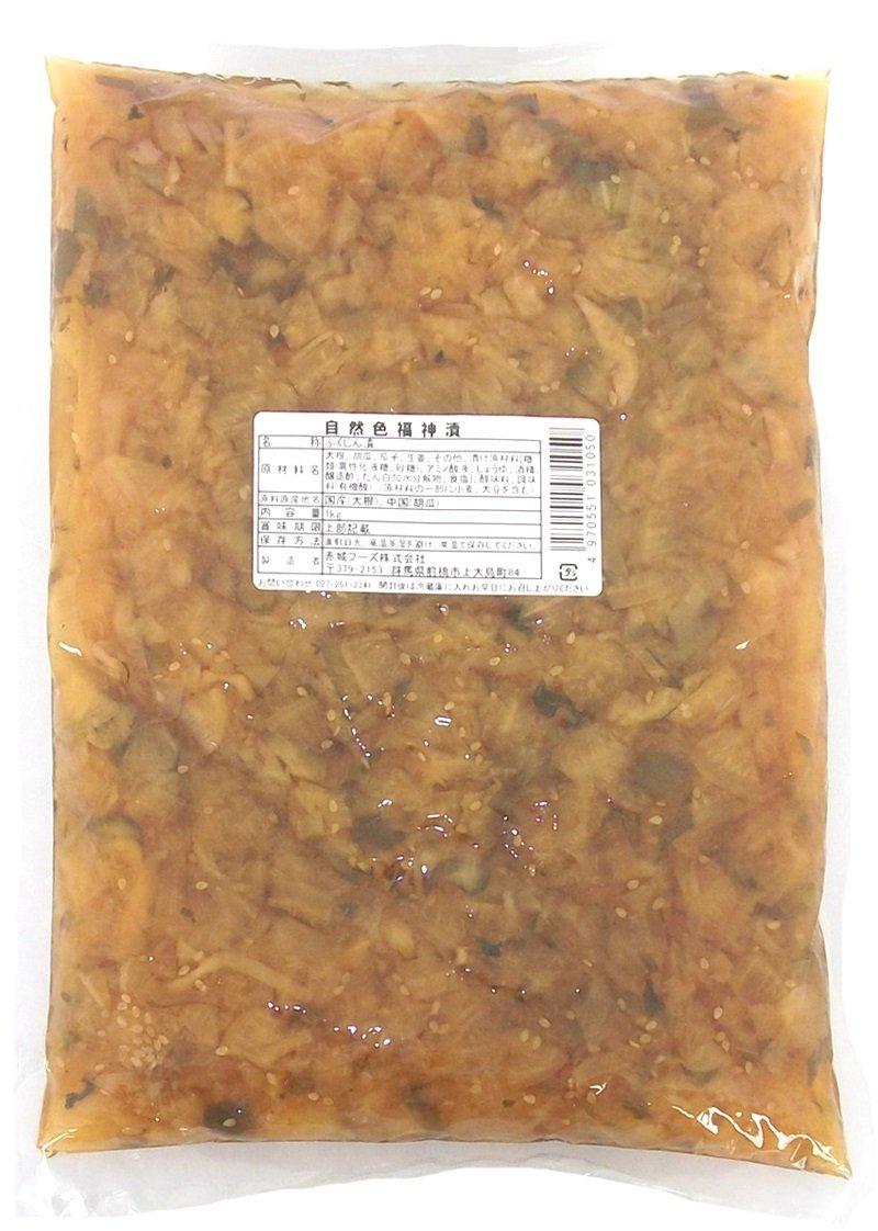Akagi Foods natural color fukujinzuke 1kgX2 bags by Akagi Foods
