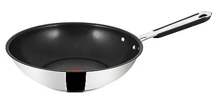 Tefal E79219, Jamie Oliver Sartén Wok, 28 cm de diámetro, apta para inducción