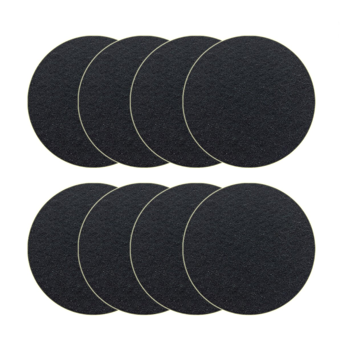 8 Pack Kitchen Compost Bin Charcoal Filter Replacements, Compost Pail Replacement Carbon Filters 7.25 inch, Round